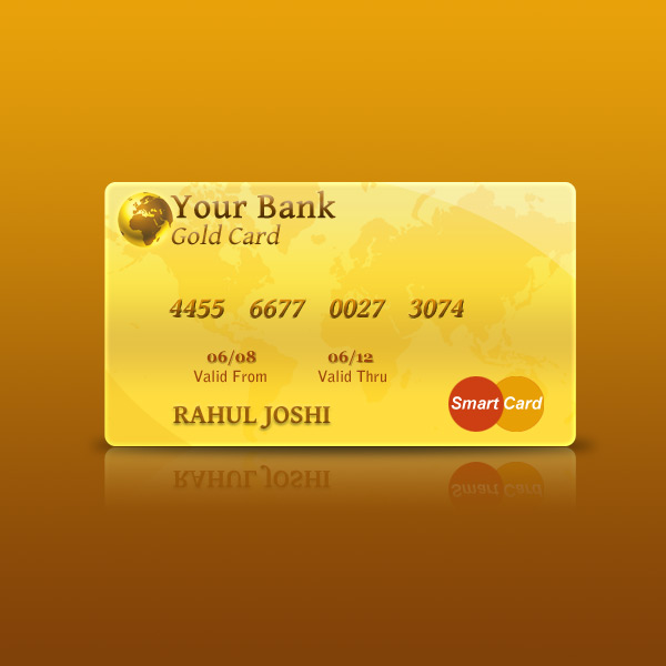 Photoshop tutorial to create a credit card rjdesignz final step reheart Image collections